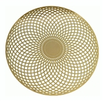 18k 6in Gold plated Torus Vortex Healing Grid