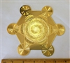 YA-652 18 karat gold plated metatron's cube