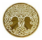 18k 6in Gold plated Celtic Tree of Life Healing Grid