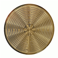 18k 6in Gold plated Labyrinth Healing Grid