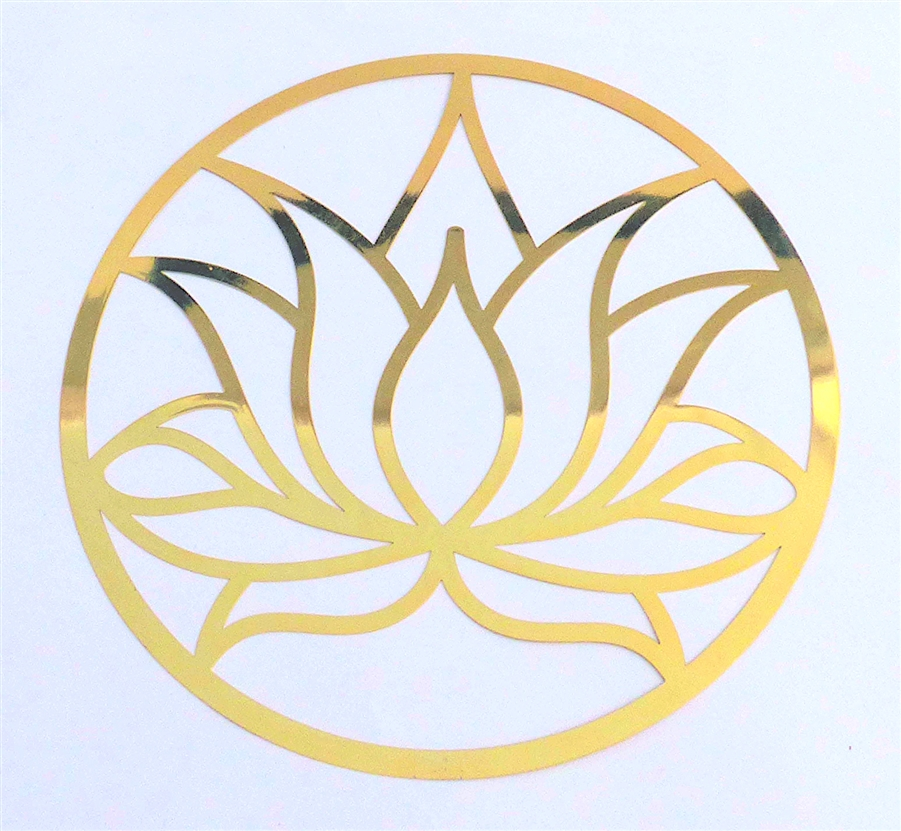 Ya 676 18k Gold Plated Lotus Flower Cut Out 6 Healing Grid