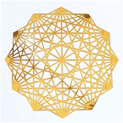 18k gold plated Dodecahedron Healing Grid