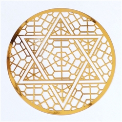 18 karat gold plated Heart Chakra cut out