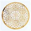 18k gold plated Star of David Healing Grid