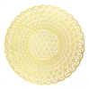 18k gold plated Flower of Life Spiral Healing Grid