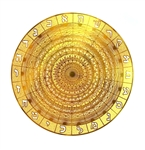 18 karat gold plated 231 Gates of the Sepher Yetzirah sacred geometry grid