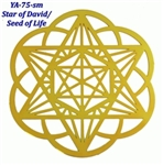 18k gold plated Merkaba Star Healing Grid