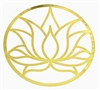 18k Gold plated Lotus Flower cut out Healing Grid