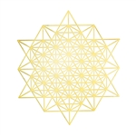 18k gold plated Hexagonal Star Grid