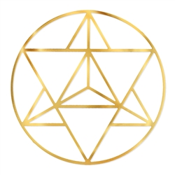 18kt 4 inch Gold plated Merkaba Grid