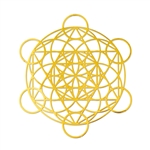 18k Gold Plated Platonic Metatron Grid