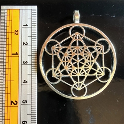 Silver  Plated  Zinc Metatrons cube pendant
