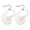 ER-07-S Nautilus Silver Plated 30mm Earrings