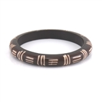 Tribal Pattern Bone BrownBangle Bracelet