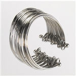 Silver Multi-Strand Stacked Cuff Bracelet