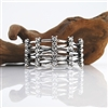 Silver Cuff Bracelet With Crystals
