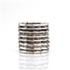 Modern Style Silver Cuff Bracelet with Elastic Fit