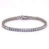 White Gold Bonded Tennis Bracelet with Cubic Zirconia