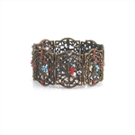 Bronzed Filigree Dragonfly Indonesian Cuff Bracelet