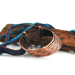 Cuff Bracelet Antique Style Copper Multi-Strand