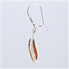 Amber Sterling Silver Curved Drop Earrings