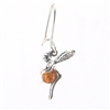 Amber Sterling Silver Fairy Drop Earrings
