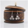 Clear Cut Glass Silver Drop Earrings