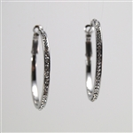 Crystal Silver Hoop Earrings