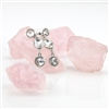 Clear Crystal 3 Drop Post Earrings