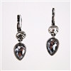 Crystal Teardrop and Round Drop Earrings