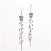 Swarovski Crystal Rhodium Tassel Drop Earrings
