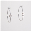 Swarovski Crystal Rhodium Hoop Earrings