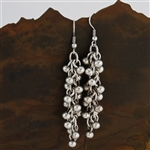 Silver Bead Drop Earrings
