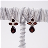 Garnet Sterling Silver Drop Earrings