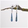 Turquoise Opal Sterling Silver Drop Earrings