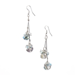 Crystal Bead Double Drop Earrings