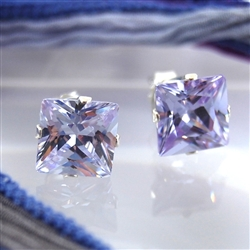 Alexandrite Sterling Silver Stud Earrings June Birthstone
