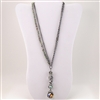 Green Crystal Bead Pendant Double Strand Necklace