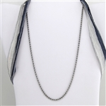 "20"" Stainless Steel Rope Chain Necklace"