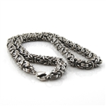 "Stainless Steel Round 24"" Box Chain Necklace"