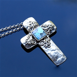 Cherished Ancient Roman Glass Cross Necklace