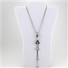 Silver Chain with Crystal Pendants