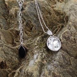 Swarovski Crystal Pendant on Rhodium Necklace