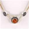 Fine Sterling Silver Amber Necklace