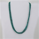 Turquoise Triple Strand Sterling Silver 925