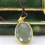Large Chalcedony Pendant Necklace