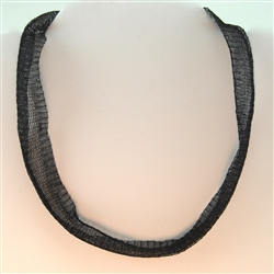 Italian Black Brass Tubular Mesh Necklace