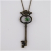 Antiqued Brass Skeleton Key Necklace