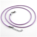 "Lavender Choker Cord 16"" Necklace"