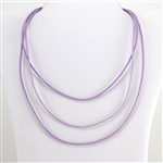 "Lavender Leather 20"" Cord Necklace"